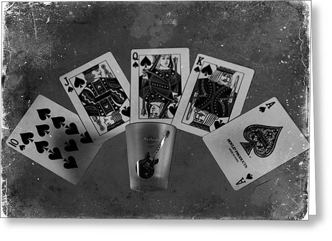 Photography Of Liquor Greeting Cards - Royal Flush In Nashville Tennessee Greeting Card by Dan Sproul