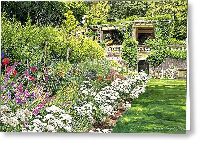 Most Paintings Greeting Cards - Royal Garden Greeting Card by David Lloyd Glover