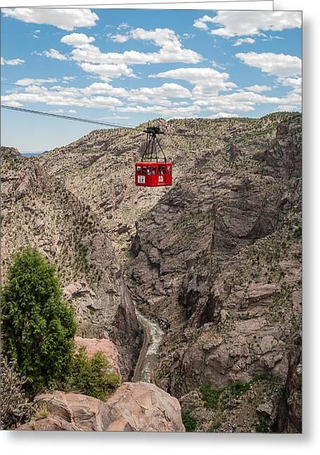 Royal Gorge Bridge Greeting Cards - Royal Gorge II Greeting Card by Robert VanDerWal