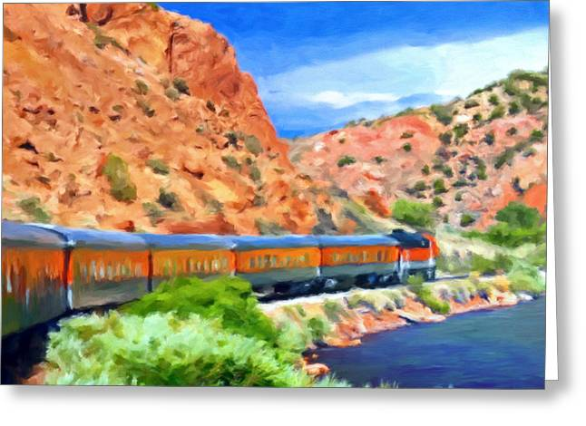 Royal Gorge Greeting Cards - Royal Gorge Train Greeting Card by Michael Pickett