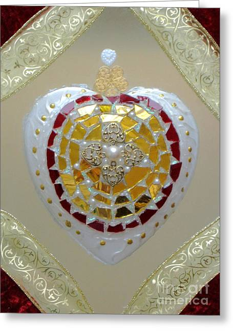 Souls Glass Greeting Cards - Royal heart Greeting Card by Heidi Sieber