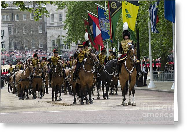 Horse Images Greeting Cards - Royal Horse Guards Of The Cavalry Greeting Card by Andrew Chittock