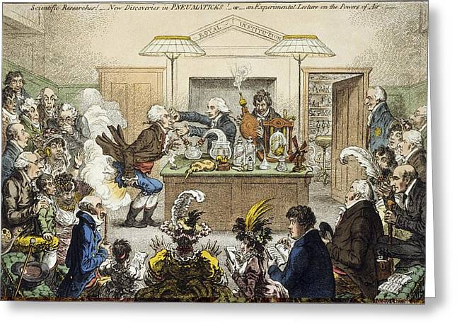 New Britain Greeting Cards - Royal Institution experiments, artwork Greeting Card by Science Photo Library