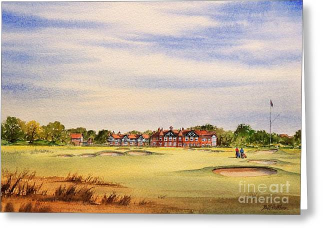 Royal Art Greeting Cards - Royal Lytham and St Annes Golf Course Greeting Card by Bill Holkham