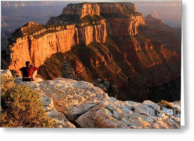 The Grand Canyon Greeting Cards - Royal Meditation Greeting Card by Adam Jewell