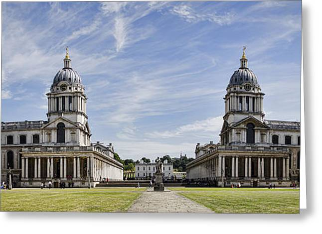 Painted Hall Greeting Cards - Royal Naval College Courtyard Greeting Card by Heather Applegate