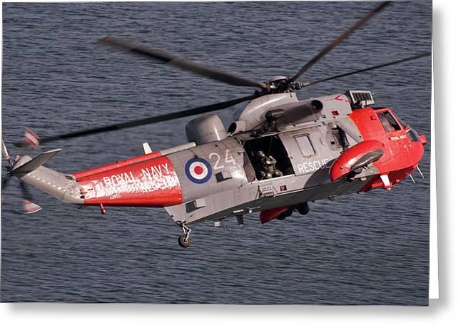 Lethbridge Greeting Cards - Royal Navy Sea King Greeting Card by Jay Lethbridge