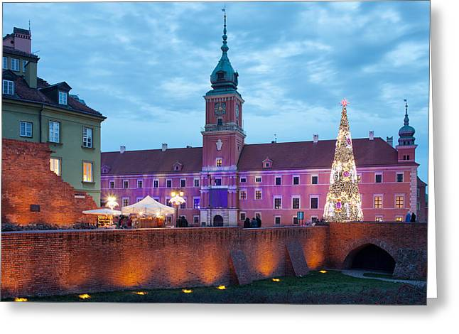 Polish Old Town Greeting Cards - Royal Palace in the Old Town of Warsaw Greeting Card by Artur Bogacki