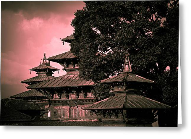 Medieval Temple Photographs Greeting Cards - Royal Palace Greeting Card by Nila Newsom