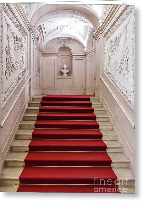 """red Carpet"" Greeting Cards - Royal Palace Staircase Greeting Card by Jose Elias - Sofia Pereira"