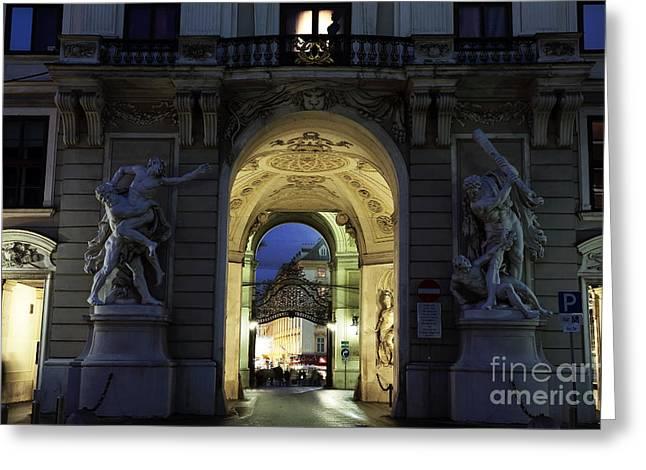Royal Art Greeting Cards - Royal Passage in Vienna Greeting Card by John Rizzuto