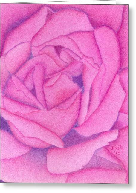 Raspberry Drawings Greeting Cards - Royal Pink Greeting Card by Dusty Reed