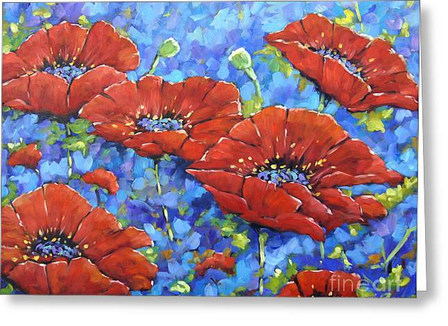 Royal Poppies By Prankearts Greeting Card by Richard T Pranke