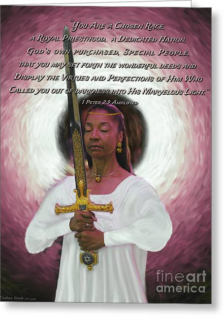 Warrior Bride Greeting Cards - Royal Priesthood 3 Greeting Card by Constance Woods