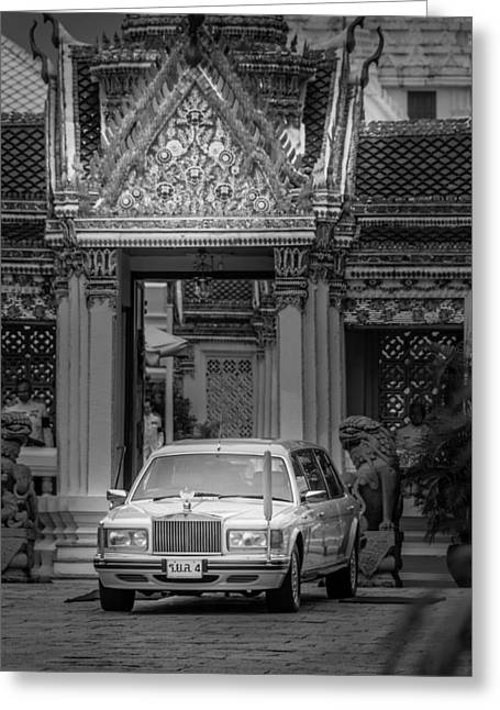 Asien Greeting Cards - Royal Rolls-Royce of the King of Thailand - Grand Palace Bangkok Greeting Card by Colin Utz