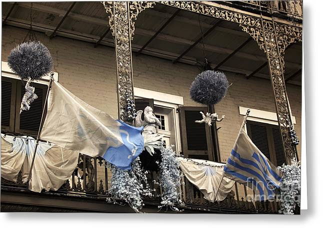 Royal Art Greeting Cards - Royal Street Balcony infrared Greeting Card by John Rizzuto