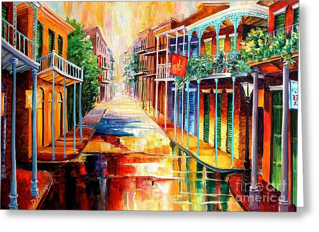 Royal Art Greeting Cards - Royal Street Reflections Greeting Card by Diane Millsap