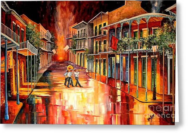 Vieux Carre Greeting Cards - Royal Street Serenade Greeting Card by Diane Millsap
