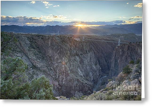Royal Gorge Greeting Cards - Royal Sunset Greeting Card by Idaho Scenic Images Linda Lantzy