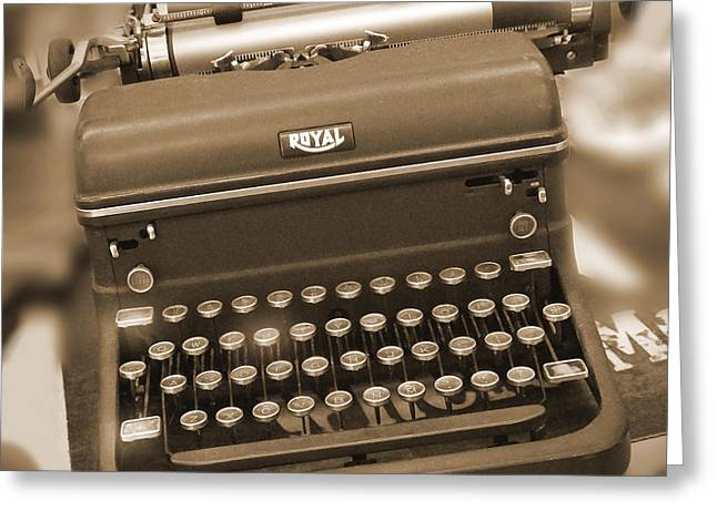 Royal Art Greeting Cards - Royal Typewriter Greeting Card by Mike McGlothlen