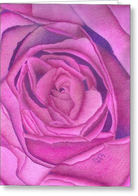 Raspberry Drawings Greeting Cards - Royal Velvet Greeting Card by Dusty Reed