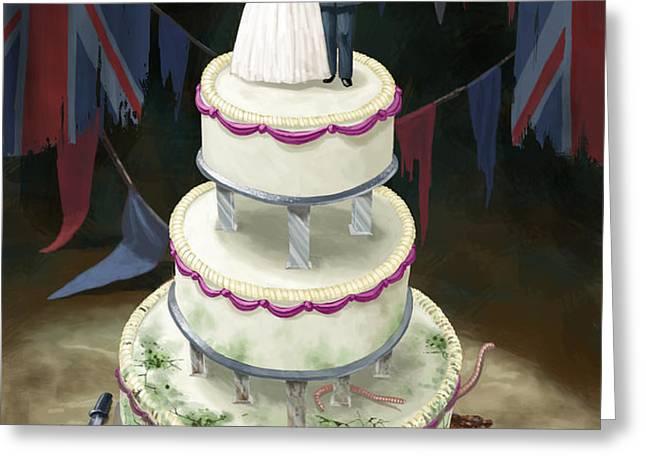 Royal Wedding 2011 cake Greeting Card by Martin Davey