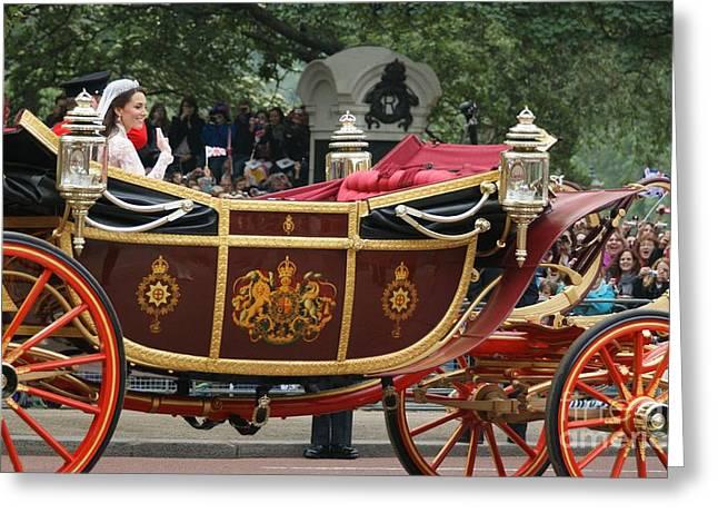 Royal Wedding  Greeting Card by MARIUSZ CZAJKOWSKI