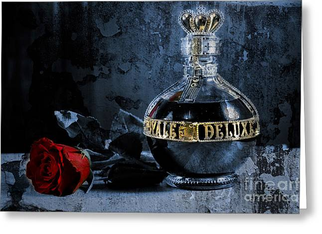 Fine Bottle Greeting Cards - Royale Delux Greeting Card by Donald Davis
