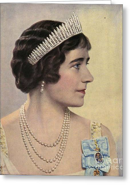 British Celebrities Greeting Cards - Royalty 1939 1930s Uk Queen Elizabeth Greeting Card by The Advertising Archives
