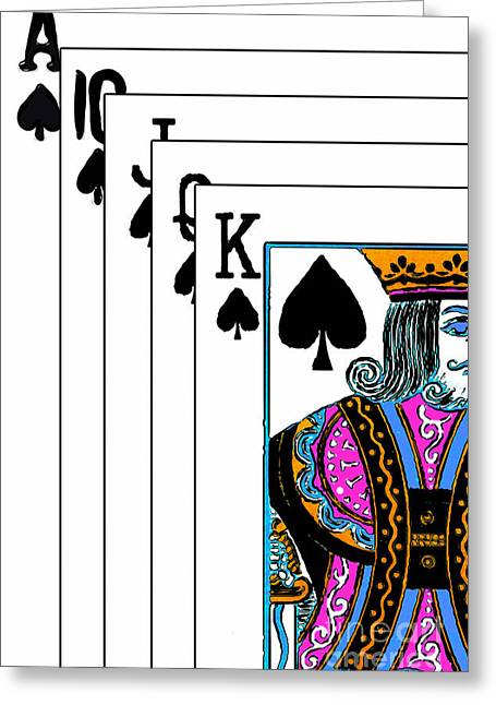 Playing Cards Greeting Cards - Royalty 20140301-2 Greeting Card by Wingsdomain Art and Photography