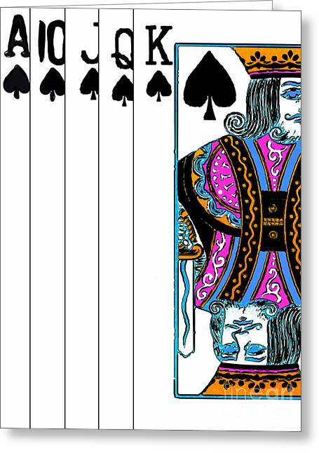 Playing Cards Greeting Cards - Royalty 20140301v3 Greeting Card by Wingsdomain Art and Photography