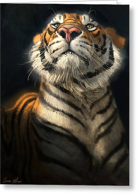 Tigers Greeting Cards - Royalty Greeting Card by Aaron Blaise