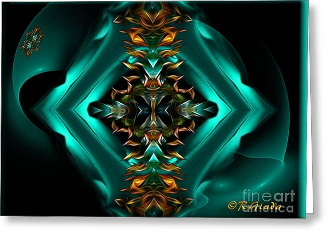 Royalty - Abstract Art By Giada Rossi Greeting Card by Giada Rossi