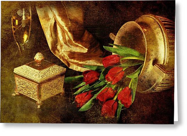 Flower Jewelry Greeting Cards - Royalty Greeting Card by Diana Angstadt