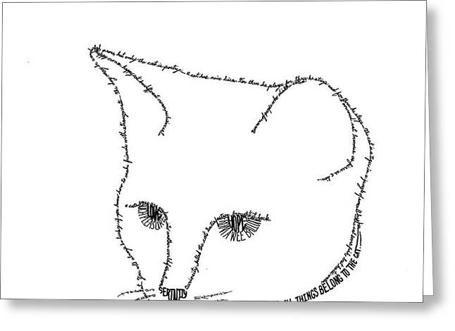 Royalty in a word is Cat Greeting Card by Bethany Martin