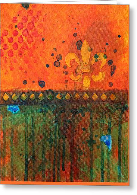 Rectangles Greeting Cards - Royalty Greeting Card by Nancy Merkle