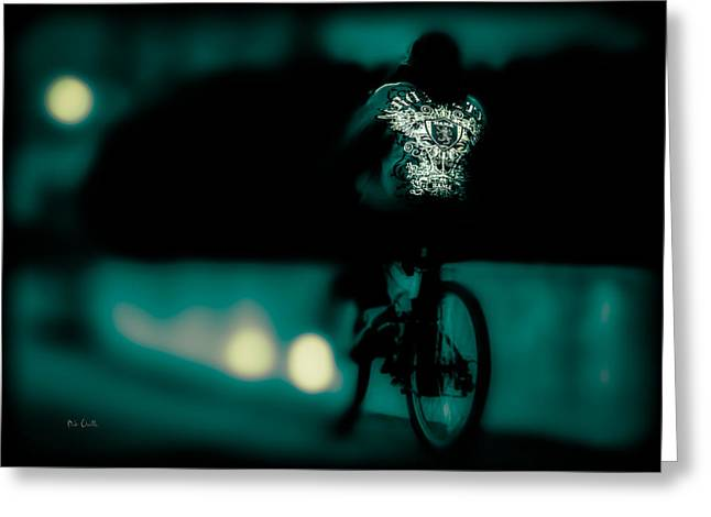 Art Decor Greeting Cards - Royalty On A Bicycle  Greeting Card by Bob Orsillo