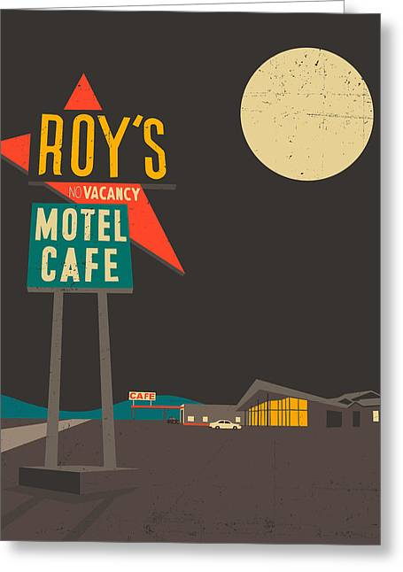 66 Greeting Cards - Roys Cafe Greeting Card by Jazzberry Blue