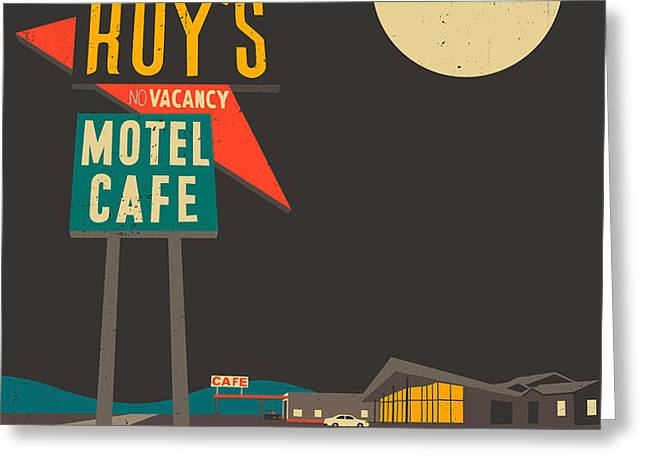Roys Cafe Greeting Card by Jazzberry Blue