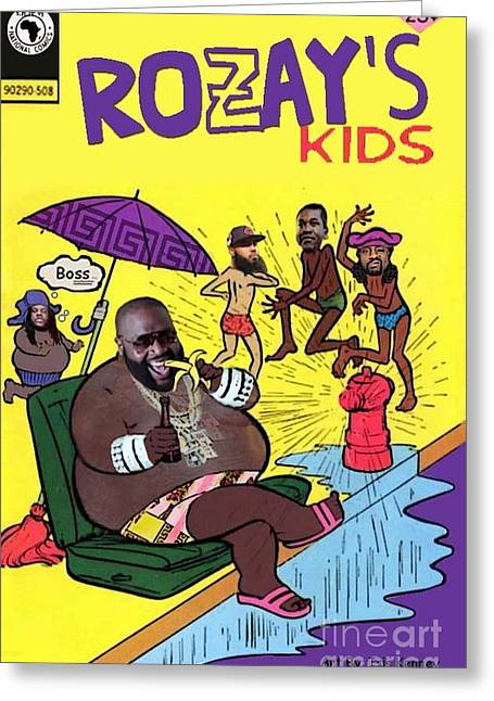 Rozay's Kids Greeting Card by Isis Kenney
