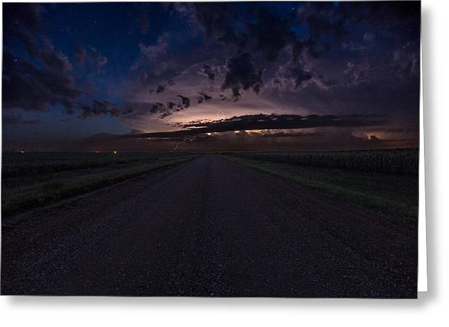 Rotation Photographs Greeting Cards - RTN Battle in the Sky Greeting Card by Aaron J Groen