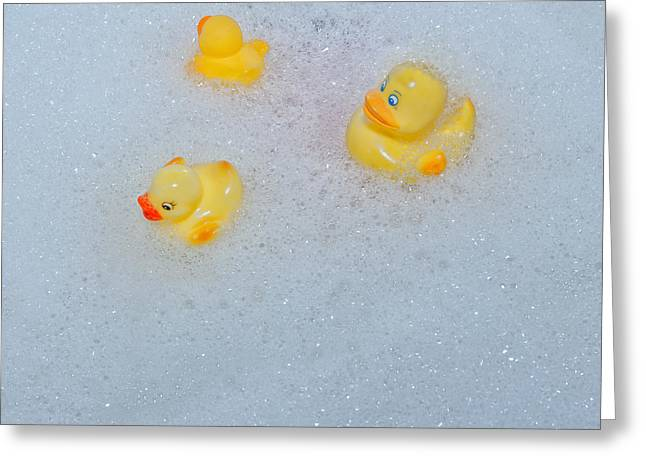 Ducky Greeting Cards - Rubber Ducks Greeting Card by Joana Kruse