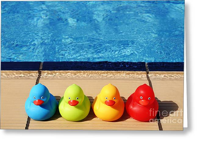 Rubberduck Greeting Cards - Rubber ducks Greeting Card by Luis Alvarenga