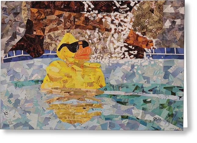 Rubber Ducky You're The One Greeting Card by Paula Dickerhoff