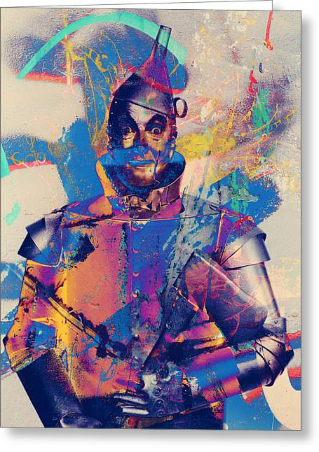 Ink Drawing Photographs Greeting Cards - Rubber Tin Man  Greeting Card by Jerry Cordeiro