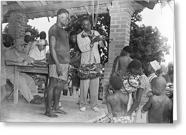 Rubber Trade In Africa Greeting Card by Library Of Congress