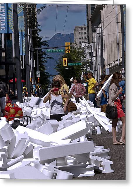 Lego Greeting Cards - Rubble Greeting Card by Gregory Whiting