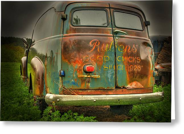 Classic Truck Greeting Cards - Rubens Good Chicks 1 Greeting Card by Thomas Young