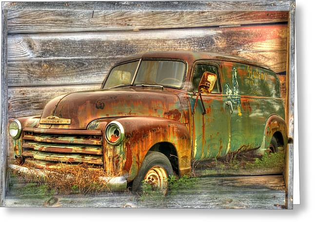Antique Truck Greeting Cards - Rubens Good Chicks 2 Greeting Card by Thomas Young