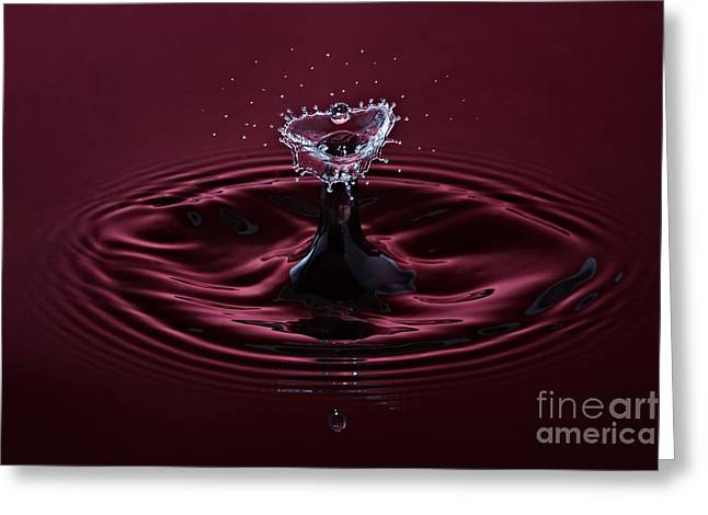 Rubies and Diamonds Greeting Card by Susan Candelario